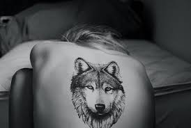 beautiful wolf on back tattooshunt com