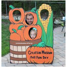 pumpkin patch wooden photo prop large festival photo booth prop