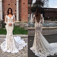 lace mermaid wedding dresses modest lace mermaid wedding dresses with sleeves v neck