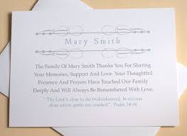 religious sympathy thank you cards personalized flat