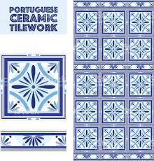 Border Floor Tiles Vector Portuguese Ceramic Tiles Set With Border Bathroom Kitchen