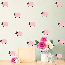 Sheep Home Decor Aliexpress Com Buy Nordic Style Cartoon Sheep Wall Sticker Home