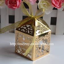 indian wedding gift box aliexpress buy gold indian wedding favor boxes laser cut