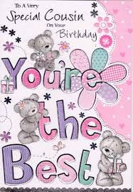 cousin birthday card birthday greetings for cousins image collections greeting card