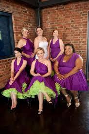 purple and orange wedding dress 1950s style retro petticoat white orange pink blue