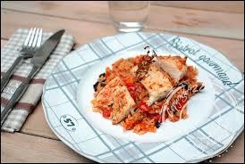 cuisine filet de poulet filet de poulet et riz à la méridionale un siphon fon fon un