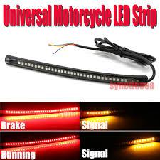 led light strip turn signal universal motorcycle light strip tail brake stop turn signal 32led 8