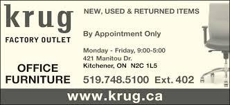 Krug Office Furniture by Krug Factory Outlet Kitchener On 421 Manitou Dr Canpages