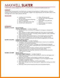 trucking resume transportation resumes examplesdoc7911024 resume
