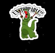 T Rex Meme Unstoppable - ideal unstoppable dinosaur meme unstoppable t rex stickers by