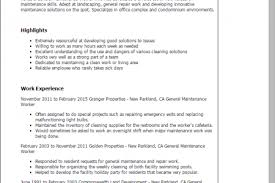 Sample Resume Factory Worker by Maintenance Worker Resume Objective Reentrycorps