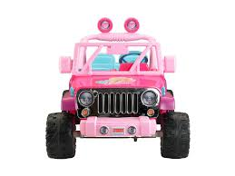 purple barbie jeep fisher price power wheels barbie jammin u0027 jeep wrangler walmart