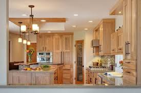 Natural Hickory Kitchen Cabinets Light Color Shade Kitchen Design - Natural kitchen cabinets