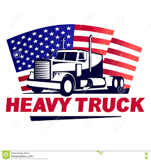 american car logos heavy truck with american flag emblem stock vector image 75586342