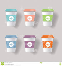 coffee cup design template mock up stock vector image 78622943