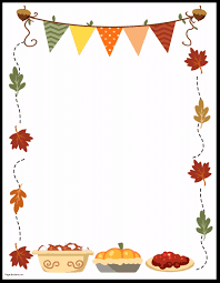 thanksgiving border printables many designs available