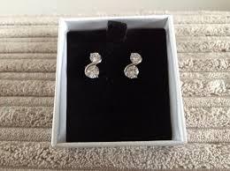buckingham earrings debenhams buckingham diamante silver coloured earrings 4 99
