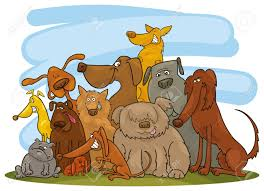 group of dogs royalty free cliparts vectors and stock