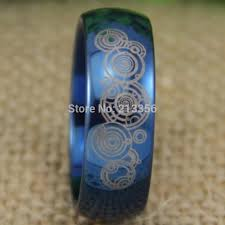 doctor who wedding ring usa uk canada russia brazil 8mm doctor who time the lord blue dome