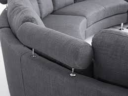 Sectional Sofas Gray Curved Sectional Sofa Gray Fabric Rotunde