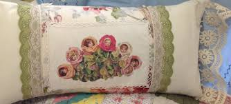 Shabby Chic Pillow Covers by Romantic Shabby Chic Pillow Covers Cream Rose Decorator Fabric
