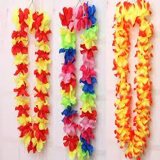 flower leis hot sale 10pcs hawaiian flower leis garland necklace fancy dress