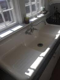 vintage cast iron sink drainboard antique cast iron farmhouse vintage kitchen sink double drain board