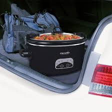 black friday slow cooker crock pot programmable 6 qt slow cooker black sccpvl605 b a