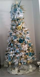 White Christmas Tree With Gold Decorations 30 Best Blues Christmas Images On Pinterest Holiday Ideas