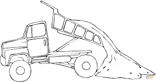 tipper truck coloring page free printable coloring pages