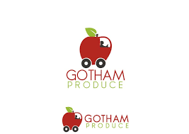 fruit delivery company serious modern logo design for gotham produce by critical designs