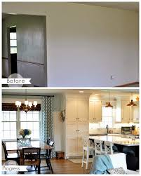 Island For A Kitchen Opening Up A Kitchen Dining Area 2 Wall Removal Added An