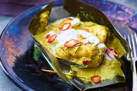 cuisine khmer seafood amok traditional cambodian seafood curry