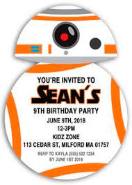 star wars personalised party invitations birthday invites free