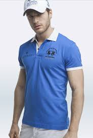 blue martini uniform maserati anselm blue short sleeve polo shirt by la martina