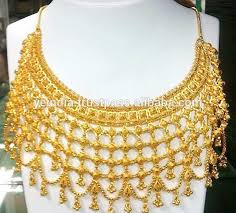 gold har set indian bridal layered necklace dubai gold plated necklace set