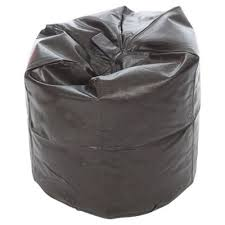 buy kaikoo faux leather bean bag brown from our pouffes bean