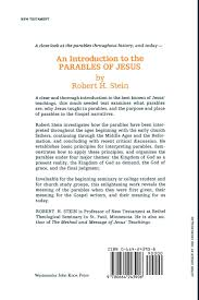 an introduction to the parables of jesus robert h stein
