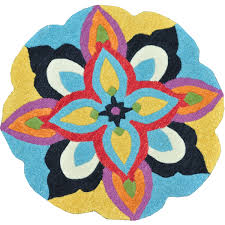 Round Flower Rug by Flooring Interior Rug Design Ideas With Appealing Loloi Rugs