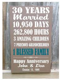 anniversary gift for parents personalized 30th anniversary gift 5th 10th 20th 25th 40th 50th