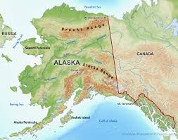 United States Canada Map by Physical Map Of Alaska