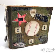 themed photo albums baseball themed s day mini album plucking daisies