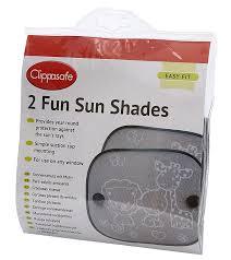 clippasafe fun sun screens black and white 2 pack amazon co