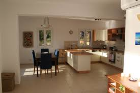 living room open plan kitchen and dining room with u shaped