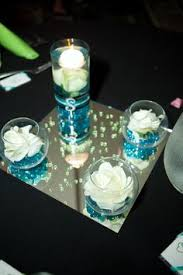 gems for table decorations things to know before using candles for the wedding buffet table