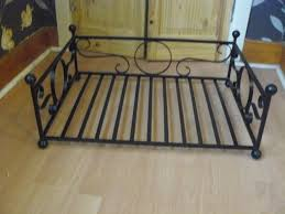 wrought iron small dog cat bed