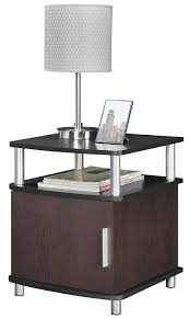 Furniture With Storage Amazon Com Altra Carson End Table With Storage Cherry Black