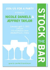 stock the bar party silhouette stock the bar invitations myexpression 28154