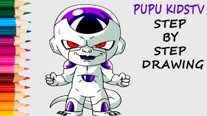 how to draw frieza from dragon ball z coloring pages for kids with