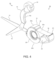 patent us8365417 scissors with an integrated tape dispenser